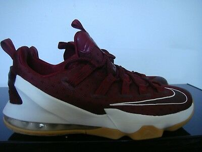 e64970f2df57a Nike Lebron James Xiii Low Team Red Sail Burgundy Shoes Size 10.5 831925-610