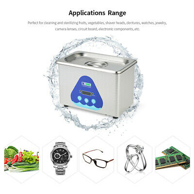 Mini Stainless Steel Household Ultrasonic Cleaner Cleaning Machine Jewelry Z6S2