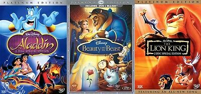 Aladdin / Beauty and the Beast / The Lion King [DVD] - 3 Disney films