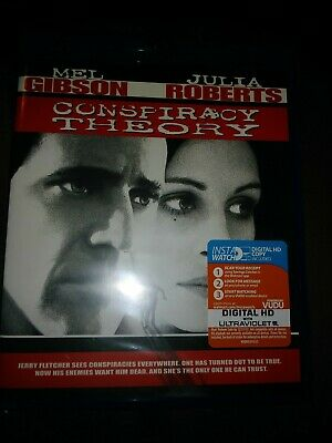 NEW Conspiracy Theory Blu Ray Digital Copy Ultraviolet UV Mel Gibson THRILLERS
