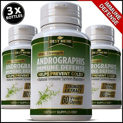 Andrographis Extract HERBAL IMMUNE DEFENSE SUPPORT STRONG IMMUNITY Pills Capsule