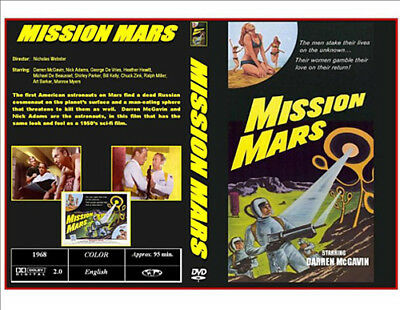 Mission Mars (1968) Darren McGavin Sci-Fi DVD-R On Demand Plus Case & Artwork