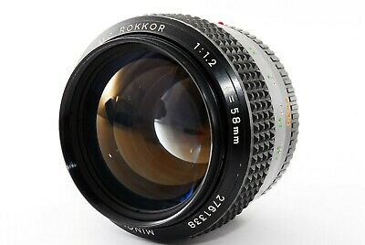 Minolta MC Rokkor 58mm f/1.2 MF lens exc condition from japan 412132