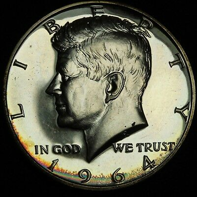1964 Proof Kennedy 90% Silver Half Dollar - Toning!