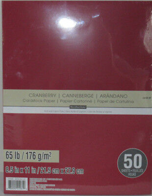 """Recollections Cardstock Paper 8 1/2"""" x 11"""" 50 Sheets 65 lb solid color CRANBERRY"""