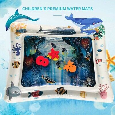 Baby Inflatable Water Play Mat Infant Filled Play Mat Ocean Animal Fun Pattern