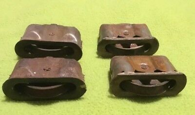 Vintage ~ Window Shash Pulleys ~ Hardware ~ Architecture ~ Lot Of 4