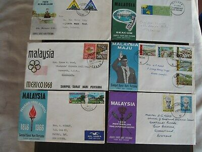 Malaysia  X 6 Covers, 1966 to 1968