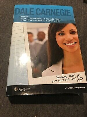 Dale Carnegie 2 in 1 Hardcover Book How To Win Friends and How To Stop Worrying