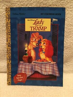 Htf 1997 Lady And The Tramp Coloring Book Walt Disney Golden See Pics 10 00 Picclick