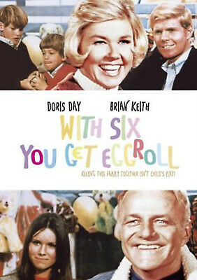 WITH SIX YOU GET EGGROLL DVD Doris Day Brian Keith UK Rele Brand New Sealed R2