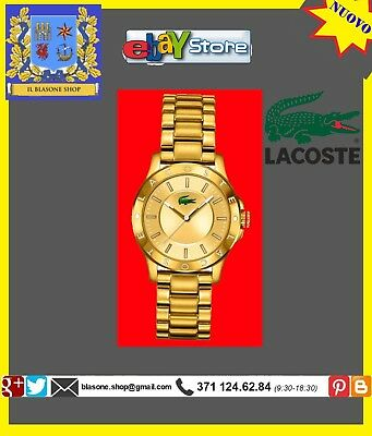 Orolologio Donna Lacoste Madeira ORO Logo Bracciale Luxury Fashion Glam Girls
