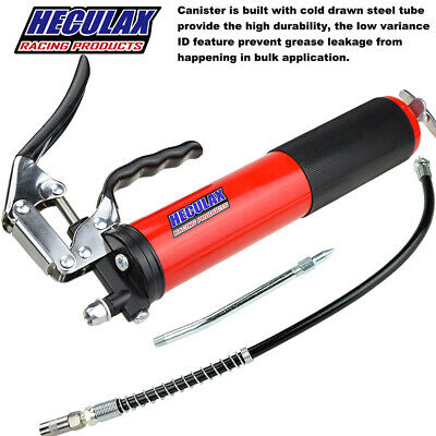 Heavy Duty Grease Gun 6000 PSI Anodized Pistol Grip With Flex Hose with 14.5Oz.