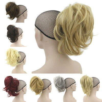Natural Wave Short Claw Ponytails Synthetic Curly Pony Tail Hairpieces
