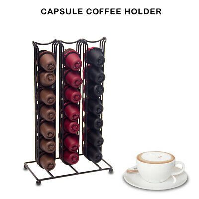 42 Capsules Coffee Pods Holder Tower Stand Dispenser Modern Rack for Nespresso