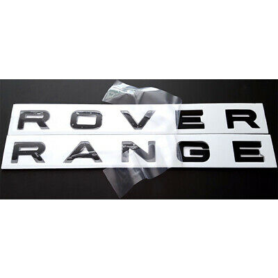 Range Rover Glossy Black 3M Letters Hood or Trunk Tailgate Emblem Nameplate USA