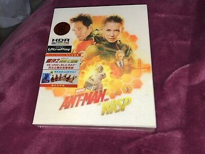 ANTMAN AND THE WASP 4K UHD + blu-ray LENTICULAR BOX w/ARTCARDS BOOKLET NEW MINT
