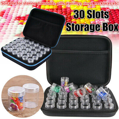 60 Slots Embroidery Diamond Painting Storage Box Case Nail Art Holder Cases