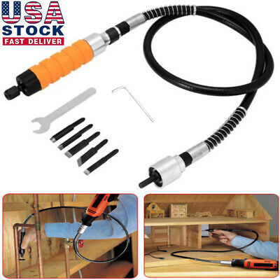 DIY Wood Chisel Carving Knives Wrench Flexible Shaft Hand Set for Electric Drill