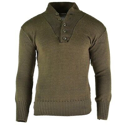 Sweaters Uniforms & Bdus Austrian Army Olive Wool Blend Sweater Jumper Pullover Sweatshirt Military Khaki