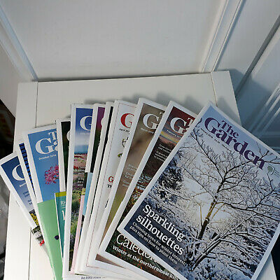 RHS Royal Horticultural Society The Garden Magazine Complete 2018 Year 12 Issues