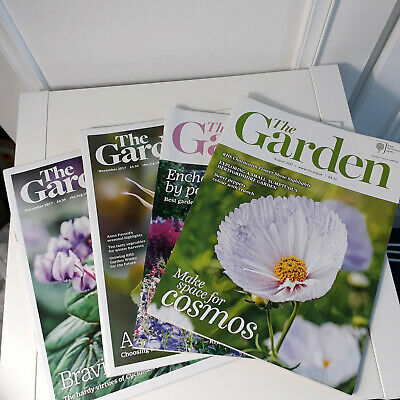 RHS Royal Horticultural Society 4 copies The Garden Magazines Aug - Dec 2017