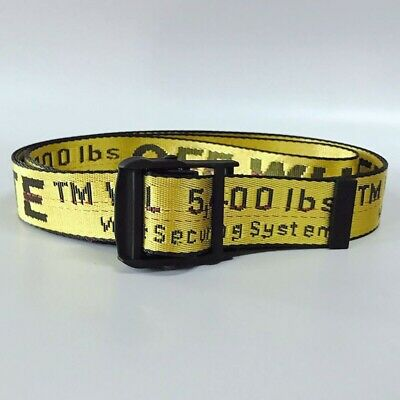 Falection Off 19Ss White Tie Down Industrial Nylon Belt Yellow