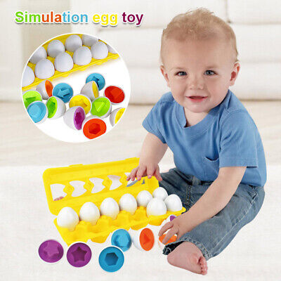 Egg Shape Color Matching Educational Learning Infant Children Kids Puzzle Toys
