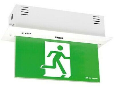 Legrand EMERGENCY LED EXIT SIGN DIFFUSER 4x1W Running Man Straight, Single Sided