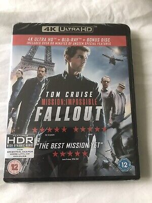Mission Impossible Fallout - Genuine UK Region B Blu-Ray + Bonus Disc - Mint