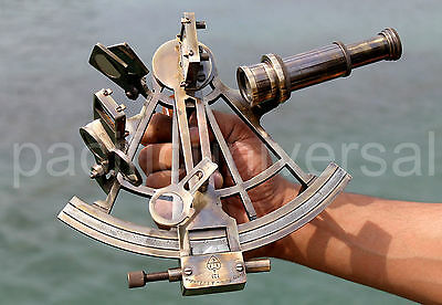 """Antiuqe Vintage Marine Sextant 8"""" Ship Working Instrument Reproduction Gift Item"""