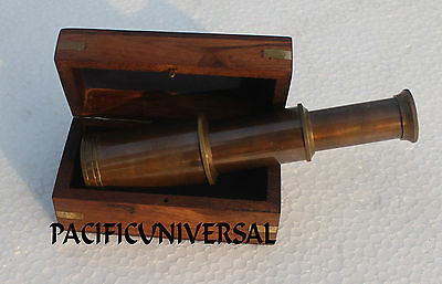 """Vintage Marine Telescope 6"""" With Box Collectible Ship Astrolabe Replica Gift Itm"""