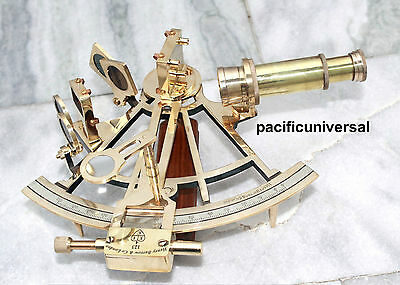 Handmade Shiny Brass Working Sextant Maritime Ship Instrument Reproduction Item.