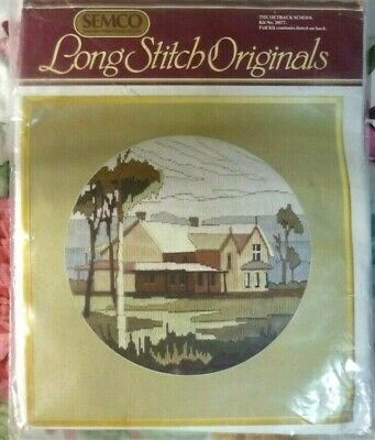 SEMCO LONG STITCH ORIGINALS - THE OUTBACK SCHOOL - KIT No 3077 - NEW KIT