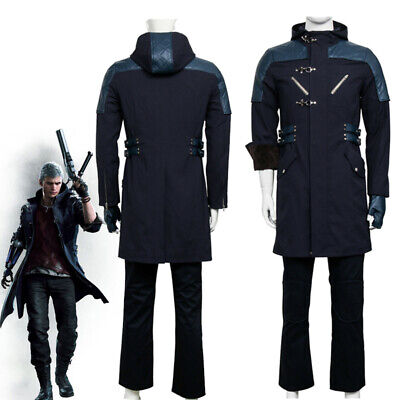 DMC 5 Devil May Cry NERO Outfit Coat Jacket Halloween Costume Cosplay + Pants
