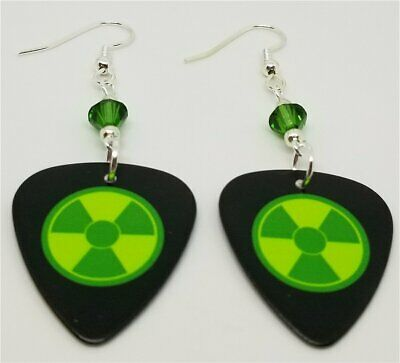 ed947b3b3 MONSTERS INC. MIKE & Sully Guitar Pick Earrings with Green Swarovski ...