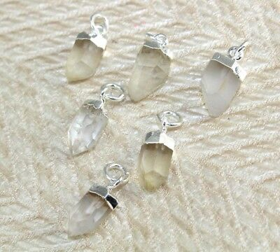 Natural Crystal Quartz Silver Plated Pendant Jewelry For Women Girls