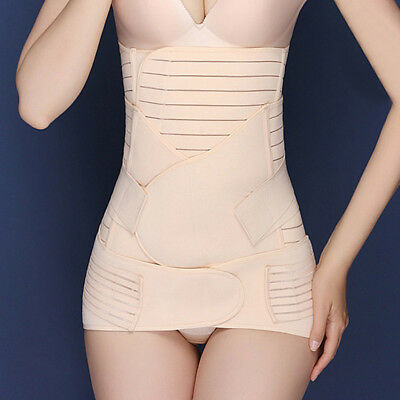 3 in 1 Postpartum Support Recovery Belly Waist Pelvis Belt Postnatal Body Shaper