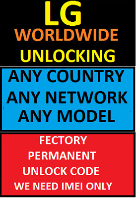 Lg Any Model Any Network Worldwide Unlocking Code (Not Found Supported)