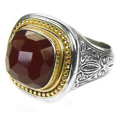 Gerochristo 2596 ~ 18K Solid Gold, Silver & Carnelian - Medieval Byzantine Ring