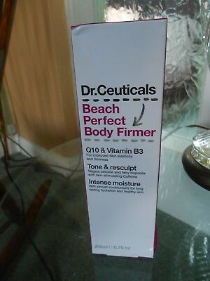 Dr Ceuticals Beach perfect body firmer with Q10 & Vitamin B3 200 ml new