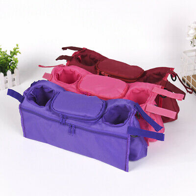 Pushchair Storage Bag Cup Holder 7 colors stroller Baby Buggy Organizer Durable