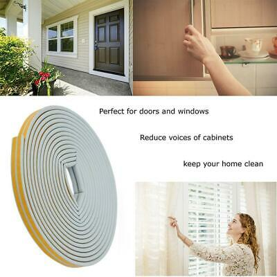 12m Foam Draught Excluder Tape Weather Seal Insulation Strip For Door Window NEW