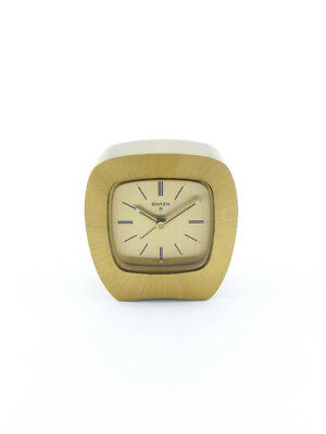 Fine SWIZA table Clock with 8 day movement and alarm  1970´s
