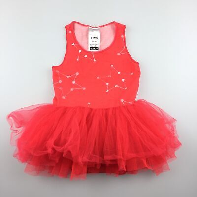 Girls size 000, Bonds, all-in-one tutu party dress / romper, GUC