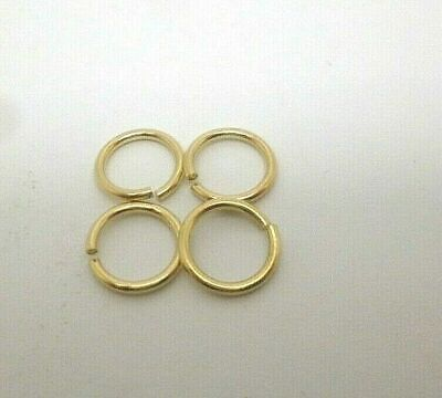 9ct gold yellow gold 7 mm jump ring open jewellery fastener x 4