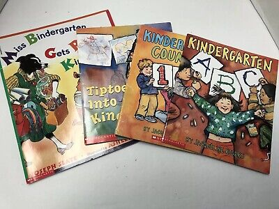Scholastic Set Of 4 Books About Kindergarden