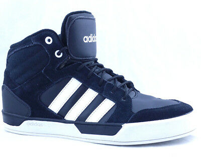 ADIDAS MEN'S NEO Raleigh High Top Size 9.5 Sneakers Black