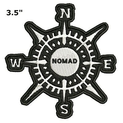 Compass - NOMAD Embroidered Patch Iron-On Souvenir Travel Nature National Parks