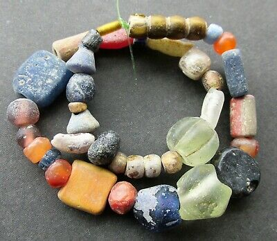 Ancient Viking Stone Glass Beads
